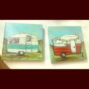 Other - 2 cute vintage trailer pictures.